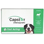 Capstar Flea Tablets - Dog 25 - 125 lb. - 6 tablets 57 mg.