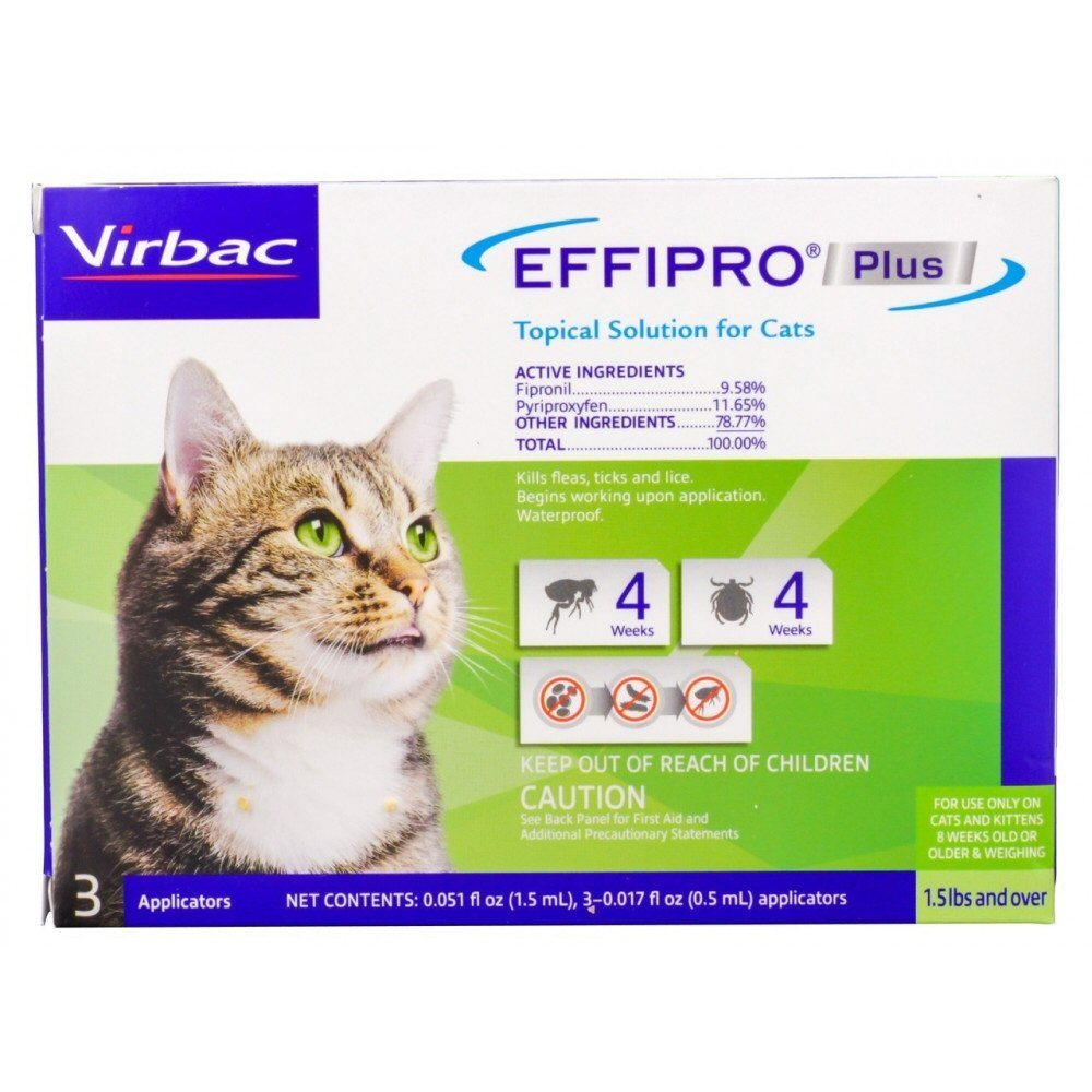 Effipro Plus Fipronil Spot on for Cats - Compare to Frontline Plus