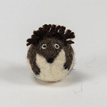 Handmade Needle Felted Wool Hedgehog Character ball - 1 ball