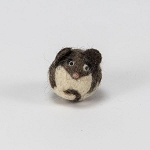 Handmade Needle Felted Wool Mouse Character ball - 1 ball
