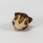 Handmade Needle Felted Wool Owl Character ball - 1 ball