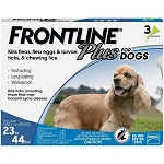 Frontline Plus for Dogs - 23 - 44 lbs. - 3 doses