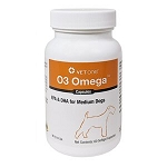 O3 Omega Fatty Acid Softgel Caps - dogs 31 - 60 lbs. - 60 caps