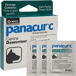 Panacur C - 2 gm. -  Box of 3 Packets - Each packet treats 20 lb.