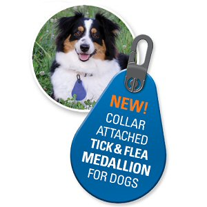 Flea and Tick Dog Collar Medallions
