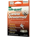 Safe-Guard Canine Dewormer (fenbendazole)- 1gm- box of 3 packets