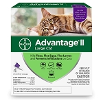 Advantage II for Cats over 9 lb. - 4 applications