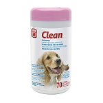 Dogit Ear Wipes - Unscented - 70 extra large wipes