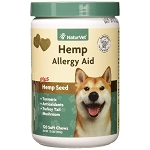 NaturVet Hemp Allergy Aid Soft Chews - 120 chews