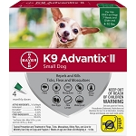 K9 Advantix II for Dogs -     4 lb. to 10 lb. - 4 applications