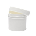 Ointment Jar - Plastic, white with 2.25 inch top - 4 oz. (120 ml) - one jar