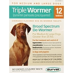 Triple Wormer for Dogs over 25 lbs. - 12 tablets
