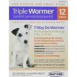 Triple Wormer for Dogs 6 to 25 lbs. - 12 tablets