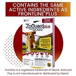 ZoGuard Plus for Dogs - Large 45 - 88 lb. - 3 applications