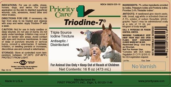 Triodine 7 - 2% Iodine Tincture - 16 oz