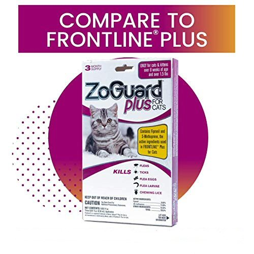 ZoGuard Plus for Cats - Compare to Frontline Plus
