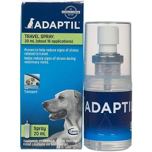 The effect of ADAPTIL Spray lasts 4 to 5 hours - each 20mL bottle delivers about 125 sprays