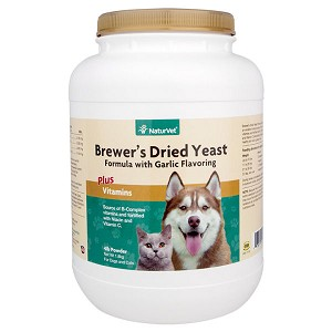 For dogs and cats - an excellent natural source of B-complex vitamins and fortified with B-1, B-2, Niacin and Vitamin C (antioxidant) - helps support healthy skin and a glossy coat