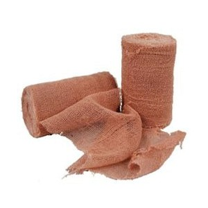 Brown Gauze - 3 inch x 5 yards per roll - bag of 12 rolls