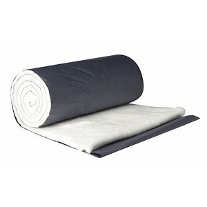 This quality non -sterile cotton roll is made of bright white, seed-free long stem cotton - layers in roll separated by blue paper