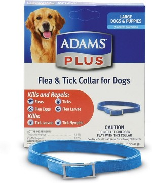 Adams Plus Flea and Tick Collar - Large Dogs and Puppies - 1 collar