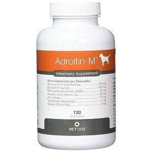 Adroitin-M Chewable Joint Tablets for Dogs - 120 tablets