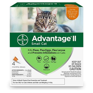 Advantage ll for Cats - 5 to 9 lb.  - 4 applications