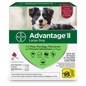 Advantage II for Dogs - 21 - 55 lb. - 4 applications