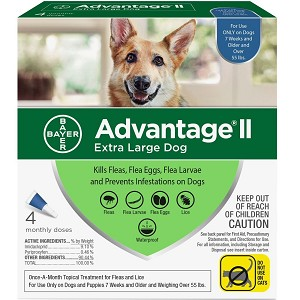 Advantage II for Dogs - over 55 lb.  - 4 applications