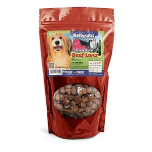 Bellyrubs All Natural Freeze Dried Beef Livers - 14 oz.  Bag (almost 1 lb.)