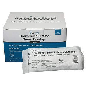Conforming Stretch Gauze Bandages - 4 inch - box of 12 rolls
