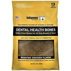 Completely grain-free and gluten-free, these unique edible chew bones include ProDen PlaqueOff, a product that has been proven to prevent plaque build up - yummy chicken flavor