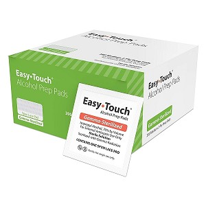 Easy Touch Spun Lace Alcohol Prep Pads are gamma-sterilized and made of a thinner woven material - these medium, 2-ply Prep Pads contain 70% Isopropyl Alcohol