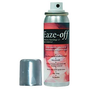 Eaze-Off temporarily denatures the tack /adhesive properties of the glues used on high tack fixation, support, and compression bandages allowing easy and painless removal of the bandage or dressing minimizing trauma to the healing process and the animal