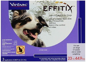 Effitix Topical Solution for Dogs - 23 to 45 lbs. -  3 applications