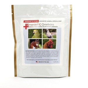EmerAid Intensive Care Omnivore was developed to be the first diet designed for the critically ill omnivore – use on companion birds, some lizards, sugar gliders, turtles, hedgehogs, reptiles, etc.