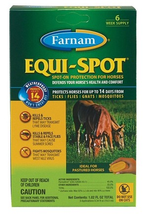 Equi Spot Spot On Fly Control for Horses - 3 applicators