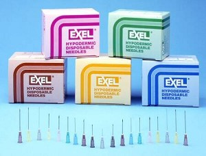 High quality, sterile, double beveled edge needles
