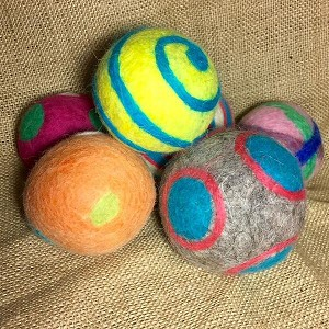 Handmade Felted Large Toy Ball - 1 ball