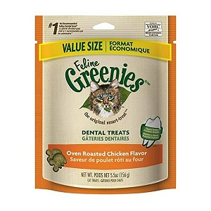 Greenies for Cats - Chicken Flavor - larger 5.5 oz.