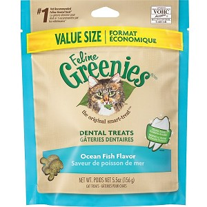 Greenies for Cats - Fish Flavor - larger 5.5 oz.