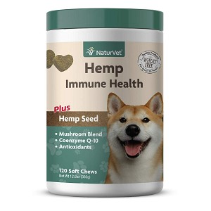 Powerful, unique blend combines hemp seed oil, hemp seed powder, antioxidants and a mushroom blend – these immune-boosting substances can help support your dogs overall health and immune system