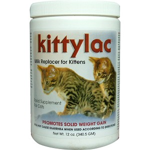 Kittylac Milk Replacer for Kittens - large 12 oz.