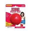 Patented durable KONG Red Rubber toy that has four bone-shaped stuffable holes to extend playtime