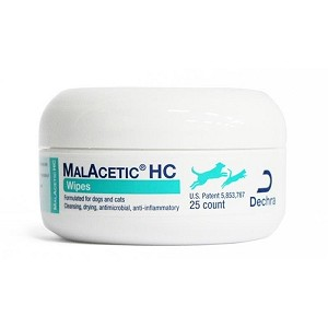 Malacetic HC Wipes with Hydrocortisone - 25 wipes