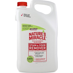 Works to permanently eliminate many organic stains and odors and features a light, clean scent - may be used on carpets, hard surfaces, clothing, kennels, and carriers and is ideal for stains and odors caused by dogs and other pets