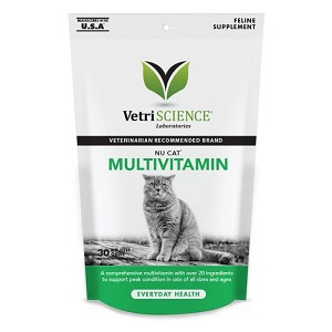 Yummy soft chew with over 20 ingredients, including key minerals, omega fatty acids from fish oils, and taurine - maintains your cat's physical and mental well-being