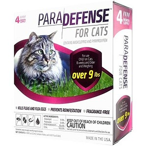 Para Defense Topical Solution for Cats - 9 +  lb. - 4 applications