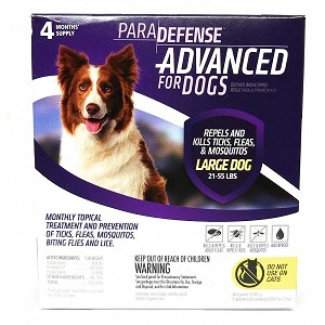 Para Defense Advanced for Dogs - 21 - 55 lb. - 4 applications