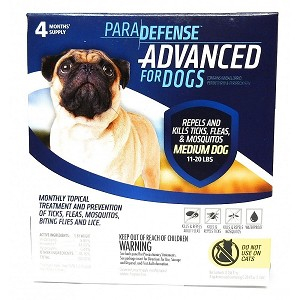 Para Defense Advanced for Dogs - 11 - 20 lb. - 4 applications